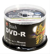 Touch DR47WPW50SP DVD-R データ用 16倍速 ワイドプリンタ 6個300枚